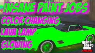 getlinkyoutube.com-GTA 5 Online: SECRET Car Colors - LAVA LAMP, CHANGING COLOR, GLOWING! RARE Paint Jobs (GTA V)