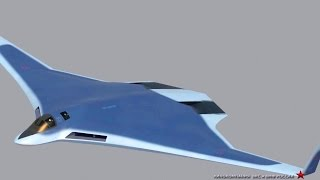 getlinkyoutube.com-Russia Pak Da Stealth Bomber Simulation [1080p]