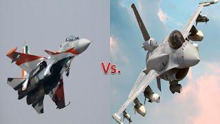 getlinkyoutube.com-The Indian Sukhoi Su-30 MKI vs.Pakistani F-16 Fighting Falcon