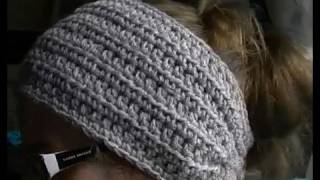 getlinkyoutube.com-How to Crochet a Earwarmer / Headband - Part 1 of 2 - You can make a Preemie to Adult size
