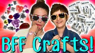 getlinkyoutube.com-Best Friend Crafts with Crafty Carol & Her BFF Sabrina! | Arts and Crafts with Crafty Carol