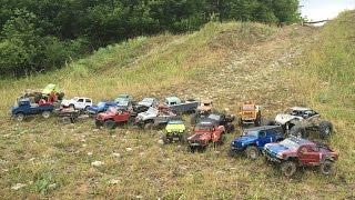getlinkyoutube.com-RC SCALE ADVENTURE TOUR #4 (Amazing SCX10, RC4WD, Tamiya and Venom rc trucks at meeting)