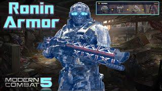 getlinkyoutube.com-Modern Combat 5 - RONIN ARMOR MAELSTORM GAMEPLAY - Lag, Rage, Headshots, Happiness..