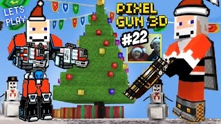getlinkyoutube.com-Mech Suit SANTA in Christmas Town! Dad & Son play Pixel Gun 3D EPIC UPDATE! (Part 22 Face Cam)