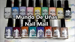 *Live Swatches* Mundo De Uñas Nail Mail * Nail Stamping Polishes *