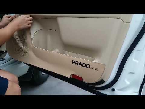 Кожаные накладки на двери для Toyota Land Cruiser Prado. Защита обшивки дверей Прадо