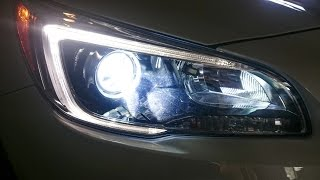 getlinkyoutube.com-Halogen vs Kensun HID + Stark LED Bulb Comparison Review on Subaru Outback