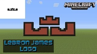 getlinkyoutube.com-Minecraft: Pixel Art Tutorial: LeBron James Logo (Nike)