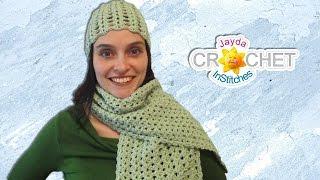 getlinkyoutube.com-Easy Lacy Crochet Scarf - Split Shell Pattern