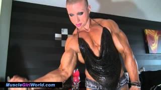 Virginia Sanchez - Female Bodybuilder Preparing For A Date