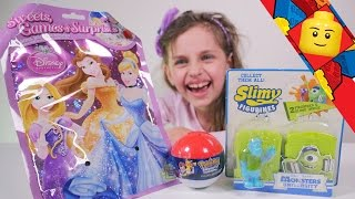 getlinkyoutube.com-[JOUET] Disney Princesse, Monsters University, Pokemon Gacha - Studio Bubble Tea unboxing surprises