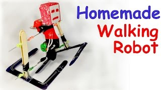 getlinkyoutube.com-How to make a WALKING ROBOT at HOME Easy