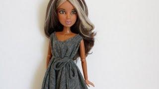 getlinkyoutube.com-How to Make a NO-Sew Doll Dress: EASY