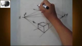 getlinkyoutube.com-Dibujar a dos puntos de fuga - perspectiva - dibujo básico, tips,consejos, arte
