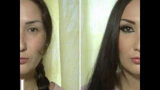 getlinkyoutube.com-Макияж До и После. ФАНТАСТИКА! Make up before and after.Alike Kim Kardashian make up?))