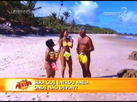 Pânico na TV - Sabrina Sato e Marlene Mattos - Praia de nudismo