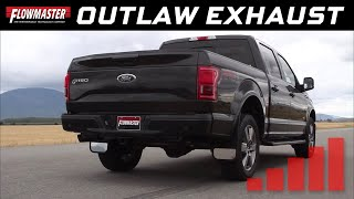 getlinkyoutube.com-Flowmaster Outlaw Cat-back Exhaust System 2015-2017 Ford F150 3.5L Ecoboost - 817726