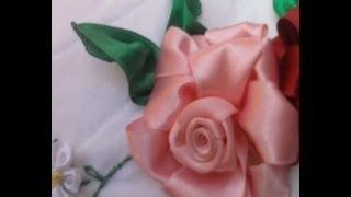 getlinkyoutube.com-Flores de Cetim/ Rosa - Parte 1 Passo a Passo