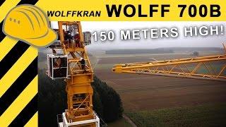 getlinkyoutube.com-WOLFF 700B Towercrane installing 150m Wind Turbine - Wolffkran Windkraft Doku - Bauforum24 Jobreport