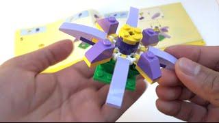 getlinkyoutube.com-Step-by-step: How to build a Lego Exotic Purple Flower - Lego Classic 10696 (2015)