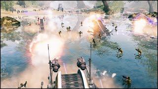 getlinkyoutube.com-KASHYYYK BEACH ASSAULT - Star Wars: Galaxy at War Mod Gameplay