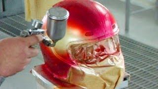 getlinkyoutube.com-Helmet Painting /カスタムペイント・エアーブラシでヒョウ柄・キャンディー塗装 / バイクのヘルメット塗装