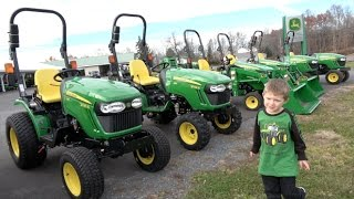 getlinkyoutube.com-BOY LOVES JOHN DEERE TRACTOR DEALERSHIP