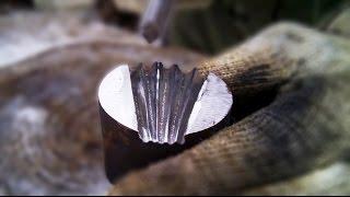 getlinkyoutube.com-ГУСИНАЯ ЛАПКА - подробный процесс изготовления штампа. Forging tools