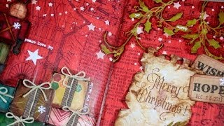 getlinkyoutube.com-Art Journal page : Merry Christmas