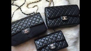 getlinkyoutube.com-香奈儿开箱 Chanel Classic Flap Mini Unboxing Black Lambskin GHW