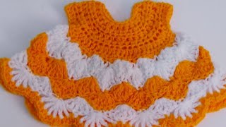 getlinkyoutube.com-Very easy crochet baby dress-1