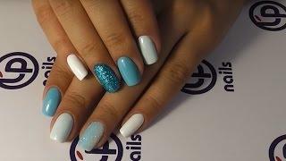 getlinkyoutube.com-Дизайн ногтей в технике присыпка блестками