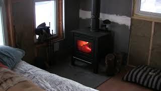 getlinkyoutube.com-Tiny Cabin Update, Small Wood Stove
