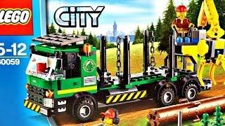 getlinkyoutube.com-Logging Truck / Samochód do Transportu Drewna 60059 - Lego City - Recenzja