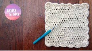 getlinkyoutube.com-How to crochet a dishcloth / washcloth - Easy step by step for beginners (sunny waves)