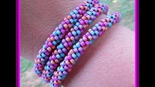 getlinkyoutube.com-Kumihimo Wrap Bracelet
