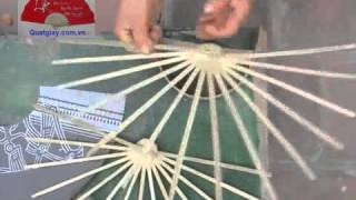 getlinkyoutube.com-How to make a Paper Fan by hands (Tutorial)