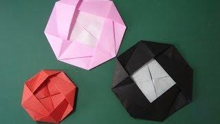 "getlinkyoutube.com-花の折り紙「カメリア」折り方Flower Origami""Camellia"""