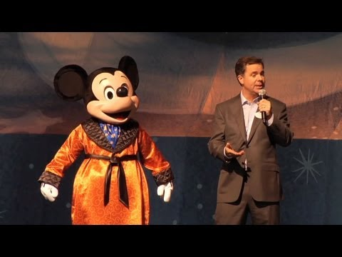 Mickey and the Magical Map grand opening with Mickey Mouse and Disneyland president