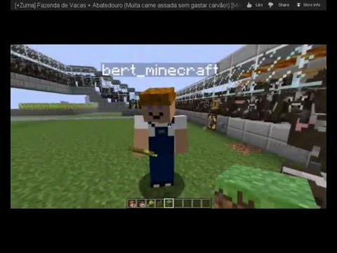 Fazenda de Vacas + Abatedouro (Muita carne assada sem gastar carvão!) | Minecraft | +Uma