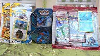 Opening Random Pokemon Card Stuff (Rare Platinum Blister, Swampert Tin, & Sun and Moon Checklanes)
