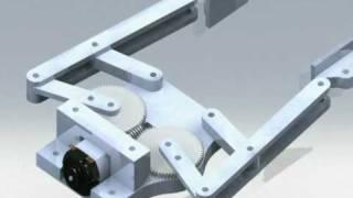 getlinkyoutube.com-4 Bar Linkage End Effector, Robot Gripper Animation