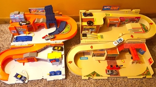 getlinkyoutube.com-Hot Wheels Sto & Go Classic City Playset Reissue and Comparison Toy Reviews