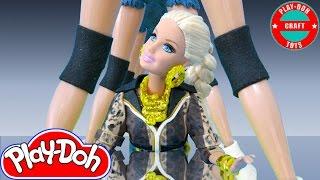 getlinkyoutube.com-Play Doh Barbie Taylor Swift - Shake It Off Inspired Costume Play-Doh Craft N Toys