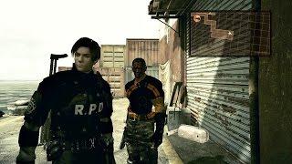 getlinkyoutube.com-Resident Evil 5 Mod - Leon R.P.D e Jack Krauser 100%