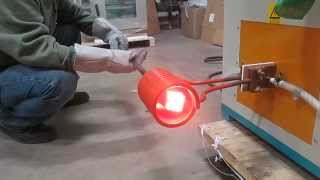 getlinkyoutube.com-Across International 25kW low frequency induction heater heating steel to forging temperature