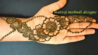 getlinkyoutube.com-easy simple beautiful floral mehndi henna designs for hands|Matroj Mehndi Designs|Design-5