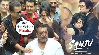 Sanjay Dutt's Real Life Friend Kamlesh Supports Sanju As He CRIES Missing Father After Jail Release width=