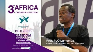 Prof. PLO Lumumba speaks during Africa Religious Liberty Congress in Rwanda