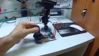 getlinkyoutube.com-ARDUINO TWO SERVO PAN TILT CAMERA WITH JOYSTICK 2X10 Kohm 12 giu 2014